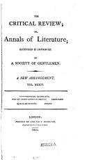 The Critical Review, Or, Annals of Literature ebook