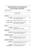 The Journal of European Economic History