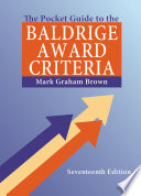 The Pocket Guide To The Baldrige Award Criteria 5 Pack  Book PDF