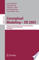 Conceptual Modeling   ER 2005 Book