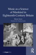Music as a Science of Mankind in Eighteenth-Century Britain Pdf/ePub eBook