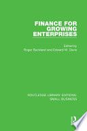 Finance For Growing Enterprises