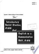 Teacher's Guide and Key for Introductory Social Studies and English as a Communication Skill