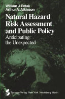 Natural Hazard Risk Assessment and Public Policy Book