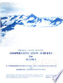 Federal State Private Cooperative Snow Surveys For Alaska Book