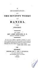 A dissertation on the seventy weeks of Daniel the prophet