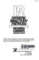 12 Dynamic Bible Study Methods