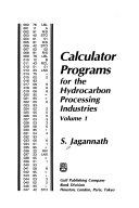 Calculator Programs for the Hydrocarbon Processing Industries Book