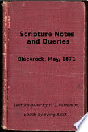 Scripture Notes And Queries