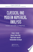 Classical And Modern Numerical Analysis Book PDF