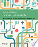 The Process of Social Research Book PDF