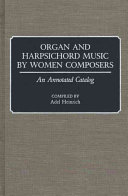 Organ and Harpsichord Music by Women Composers