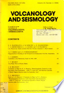 Volcanology and Seismology