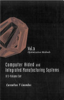 Computer Aided and Integrated Manufacturing Systems  Optimization methods