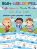 300  Colorful Sight Words Flash Cards 123 Easy Step  Teach Your Child To Read English Norwegian Book