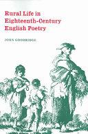 Rural Life in Eighteenth-Century English Poetry