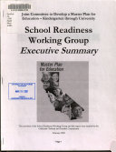 School Readiness Working Group Executive Summary