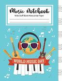 Music Notebook Wide Staff Blank Manuscript Paper Book PDF