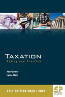Taxation   Policy and Practice 2020 21  27th Edition