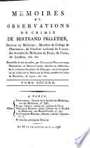 Memoires Et Observations De Chimie