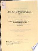 Directory of Waterloo County 1864