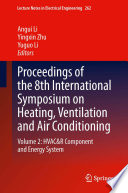 Proceedings of the 8th International Symposium on Heating, Ventilation and Air Conditioning
