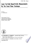 Laser far field beam profile measurements by the focal plane techniques