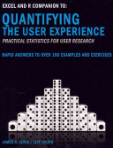 Excel and R Companion to 'Quantifying the User Experience-- Practical Statistics for User Research
