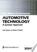 Automotive Technology a System Approach/Tech Manual to Accompany