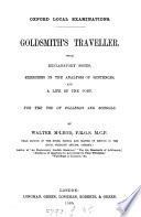 Goldsmith's Traveller, with notes and a life of the poet by W. McLeod. (Oxf. local exam.).