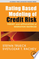 Rating Based Modeling of Credit Risk Book