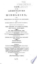 View of the Agriculture of Middlesex Book