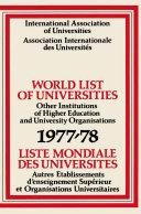 Pdf World List of Universities 1977–78 / Liste Mondiale des Universites Telecharger