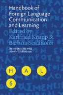Pdf Handbook of Foreign Language Communication and Learning Telecharger
