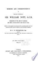 Memoirs and Correspondence of Major General Sir William Nott