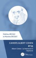 Cahiers Albert Cohen N°25