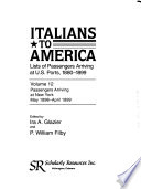 Italians to America, May 1898-April 1899
