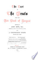 The Text Of The Bruts From The Red Book Of Hergest Book PDF