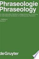 Phraseologie  : ein internationales Handbuch zeitgenössischer Forschung , Band 2