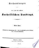 Verhandlungen des Kurhessischen Landtages