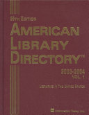 American Library Directory 2003 2004