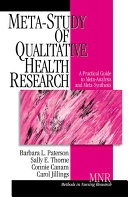 Meta Study of Qualitative Health Research