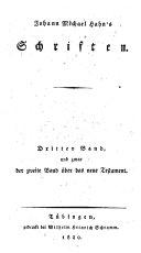 Johann Michael Hahn's Schriften ...