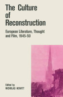 Pdf The Culture of Reconstruction Telecharger