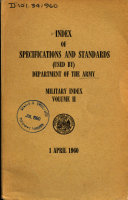 Pdf Index of Specifications and Standards (used By) Department of the Army