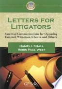 Letters for Litigators