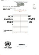Proceedings of the Expert Working Group Meetings on Water Resources Data Systems and Water Use Data