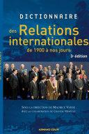 Pdf Dictionnaire des relations internationales de 1900 à nos jours Telecharger
