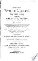 Notes of a Voyage to California Via Cape Horn