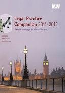 Legal Practice Companion 2011 12 Book